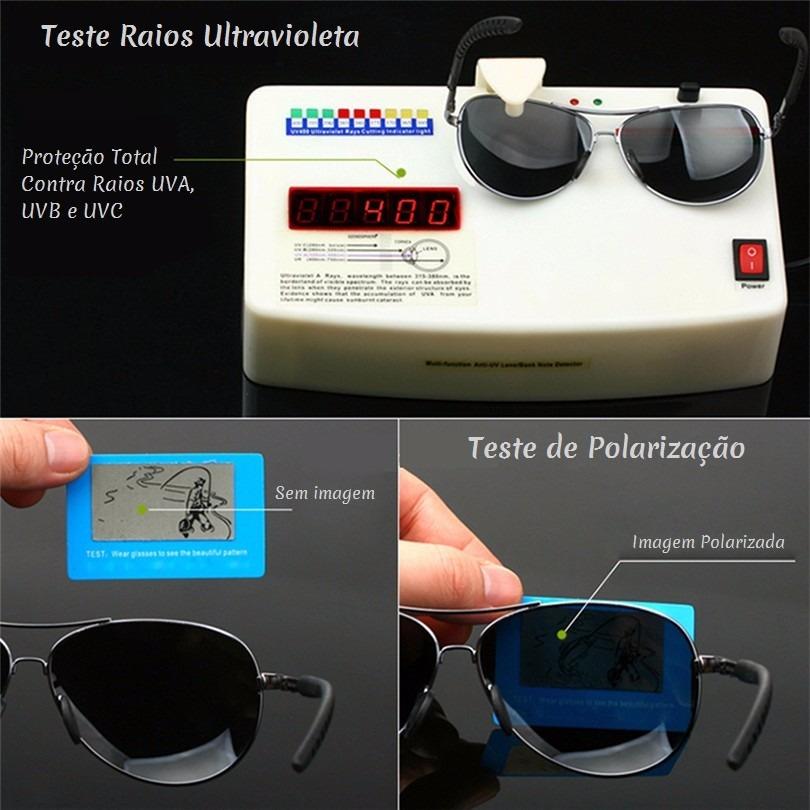 ee0219748bf65 Óculos De Sol Aviador Polarizado Pro Uv400 Veithdia Original - R ...