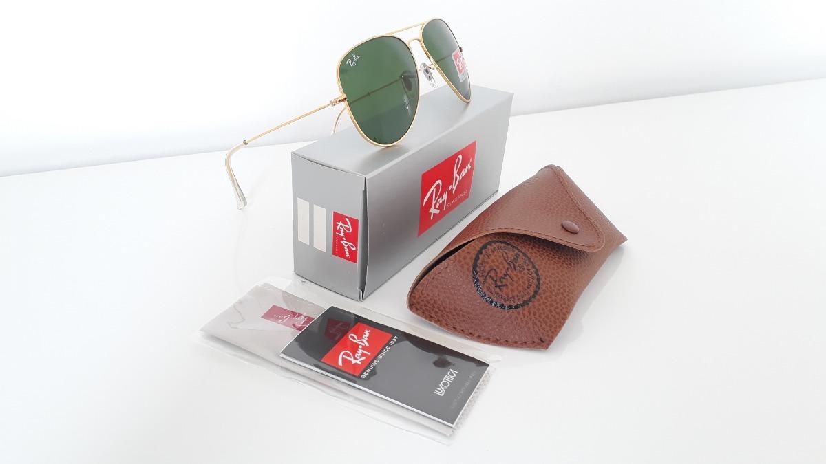 óculos de sol aviador ray ban rb3025 dourado masculino. Carregando zoom. b068fdd66a