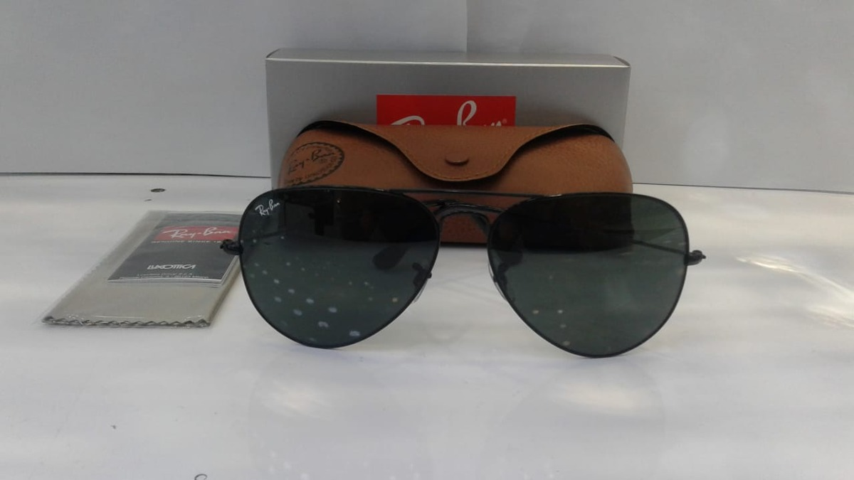 1d77f550d4ab7 óculos de sol aviador ray ban rb3025 e 3026 lente cristal. Carregando zoom.