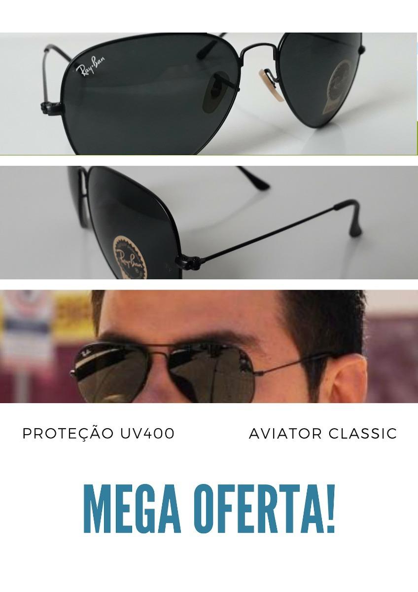 Óculos De Sol Aviador Ray Ban Rb3025 Preto Unissex - R  74,80 em ... cac70b16c4