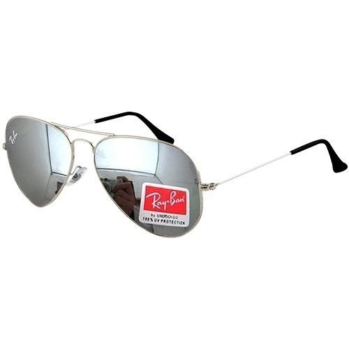 87b06fd99 Oculos De Sol Aviador Rb3025 Prata Espelhado Rayban Top Avia - R ...