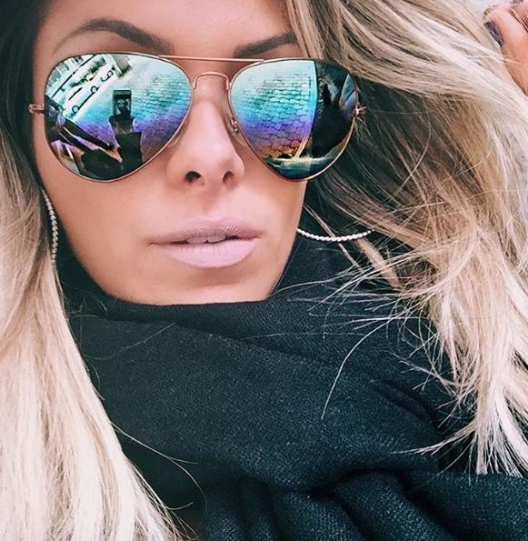 2a95fd27c9d0c Óculos De Sol Aviador Redondo Feminino Espelhado Tam M - R  10