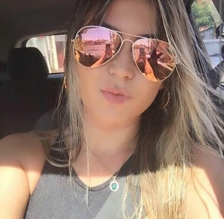 7cbbd7288914e Oculos De Sol Aviador Rosa Espelhado Rb3025 Feminino Verão - R  89 ...