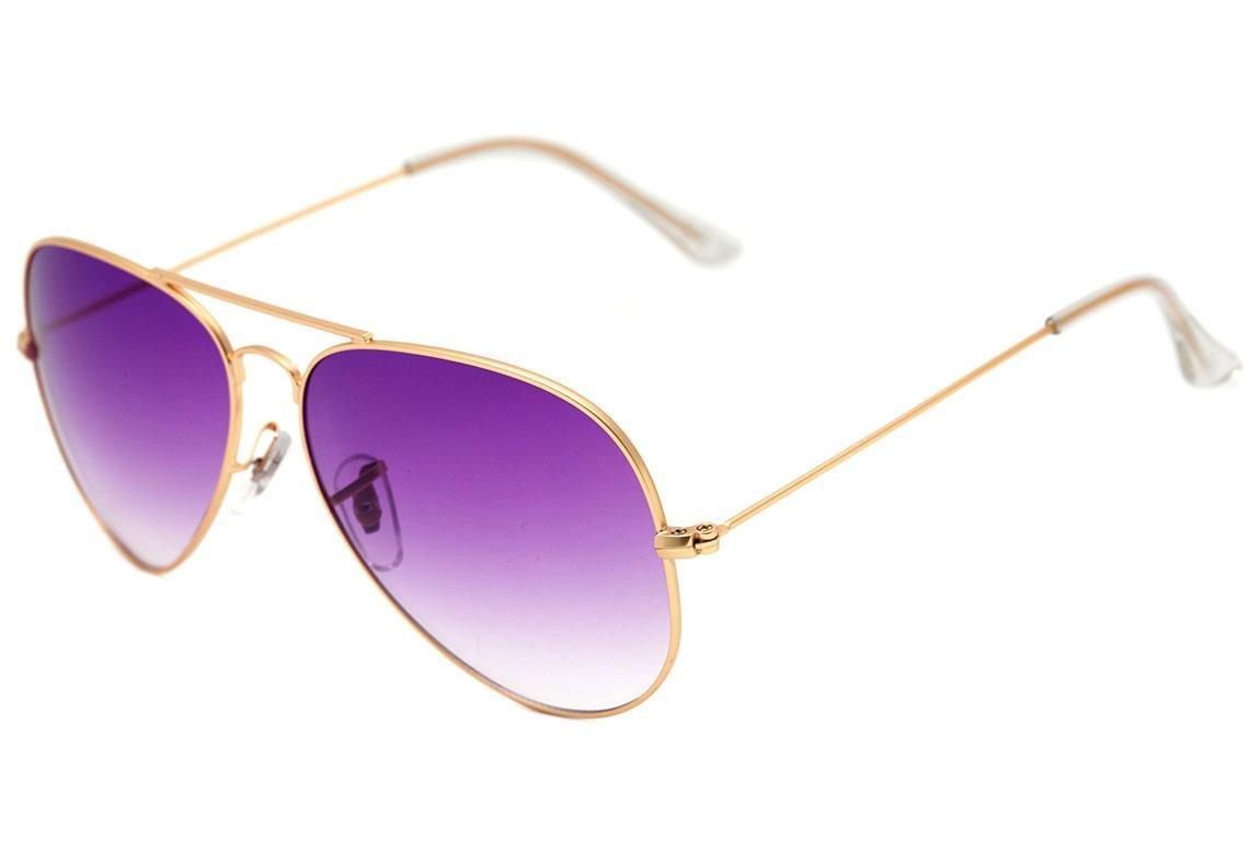 e3e6a38bd óculos de sol aviador stara dourado brilho/ roxo degradê. Carregando zoom.