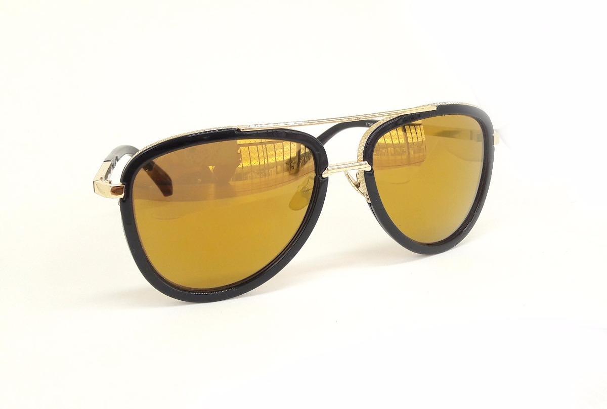 1d8cf2a5f0b50 óculos de sol aviador unissex espelhado lente amarela. Carregando zoom.