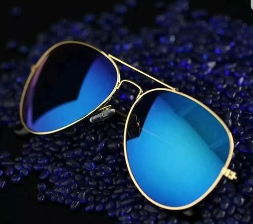 Óculos De Sol Aviador Uv400 Espelhado Várias Cores Piloto - R  64,90 ... ae0aba99cd