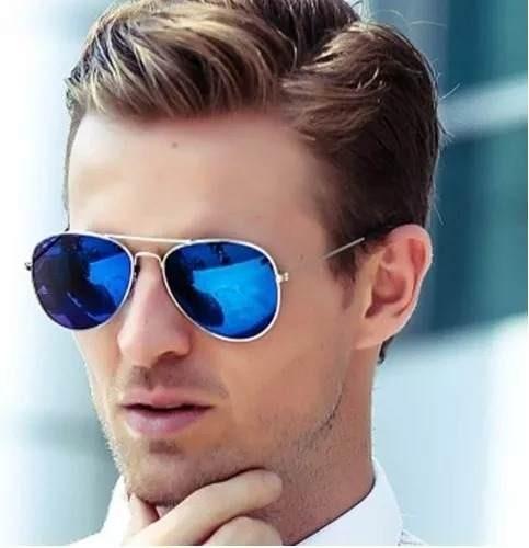 80ff083bd7c34 Óculos De Sol Aviador Uv400 Espelhado Várias Cores Piloto - R  64,90 em  Mercado Livre