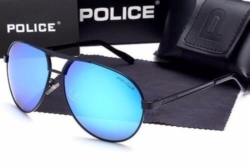 63625fddce6ca Óculos De Sol Aviator Azul Polarized Sunglasses Police 2017 - R  459 ...