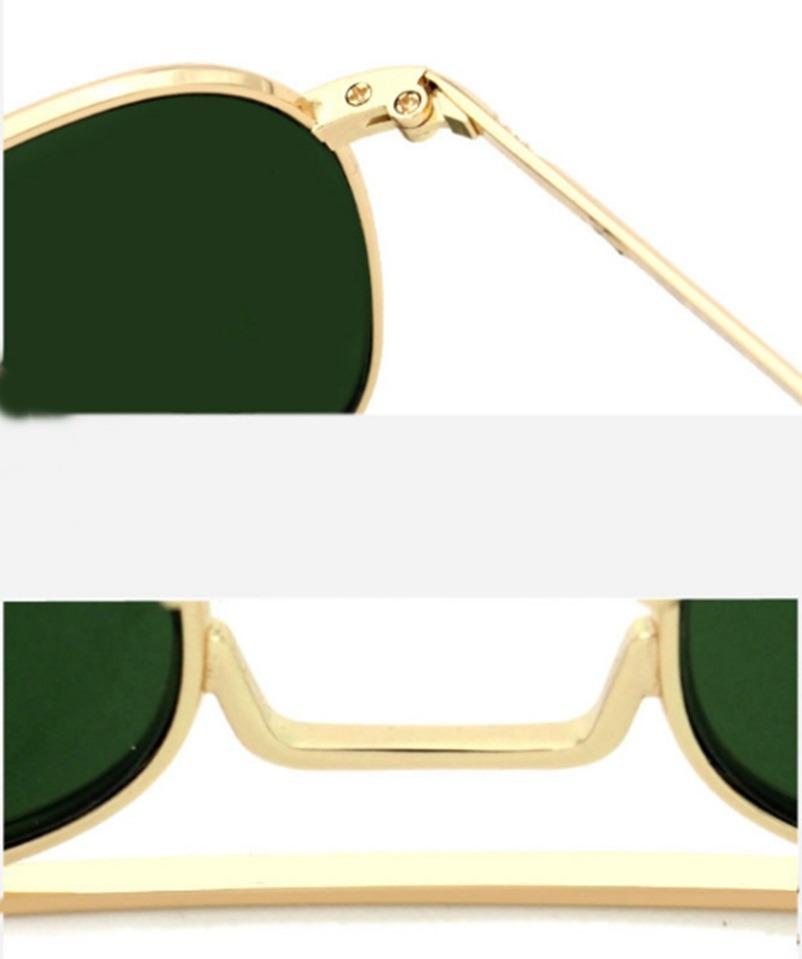 406ca928d2f2b óculos de sol avidador dourado lente verde militar americano. Carregando  zoom.