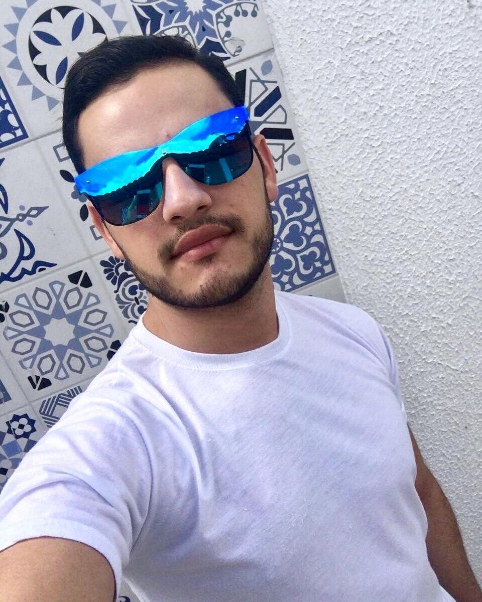 4a096f47e óculos de sol azul espelhado masculino feminino frete grátis. Carregando  zoom.