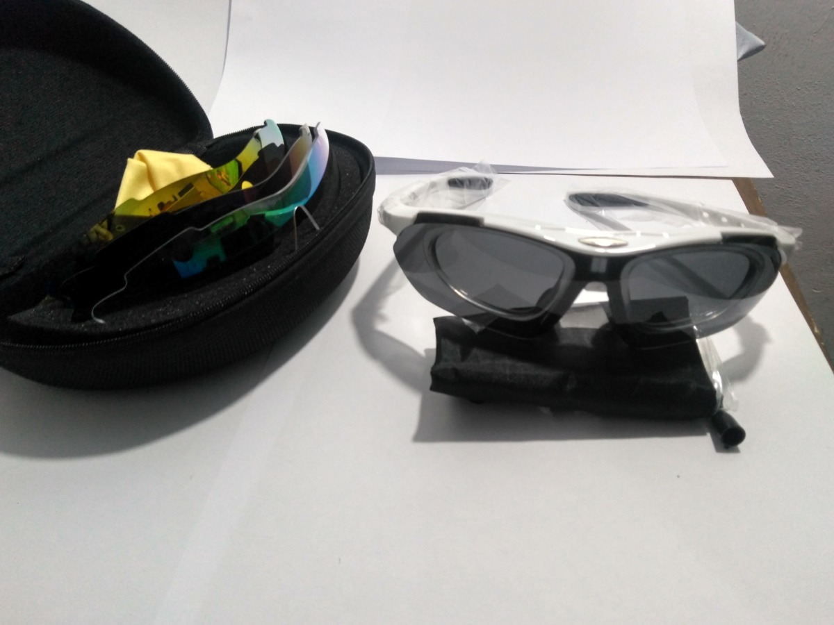 Óculos De Sol Bike 5 Lentes + 1 Camaleão Lacrado Foto Real - R  79 ... e69dca12c5