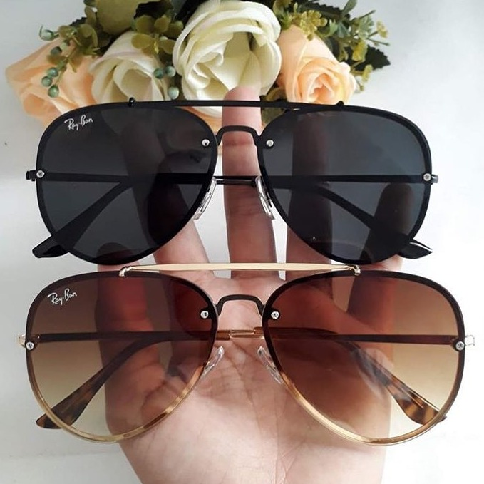 586076ec5803d Óculos De Sol Blaze Aviador Masculino Feminino Redondo 2019 - R  89 ...