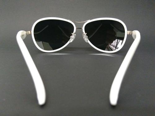 Óculos De Sol Branco Feminino Lentes Polarizadas T 038 C15 - R  110 ... c168d33ebb