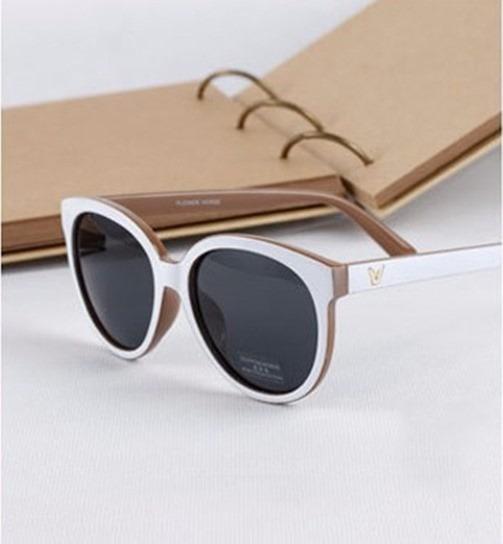 d925176b3 Óculos De Sol Branco Luxo Para Mulher Retrô Preto Feminino - R$ 46 ...