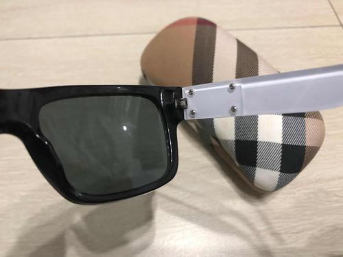 b60d714edf5c5 Óculos De Sol Burberry Original Preto - R  499