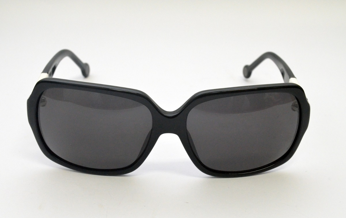 1fe2cb2f52851 óculos de sol carolina herrera preto she537 médio acetato. Carregando zoom.