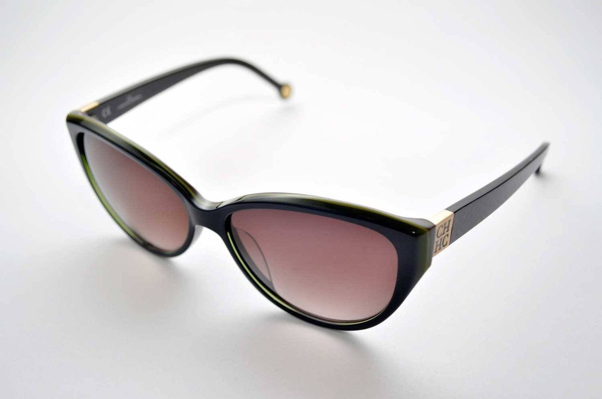 c69ddfa6c77d6 Óculos De Sol Carolina Herrera She567 Azul - R  701
