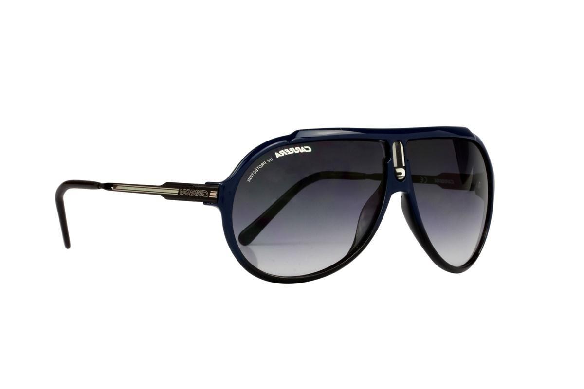 b6ff3231e Óculos De Sol Carrera 100% Proteção Uv Azul Lentes Preto - R$ 348,00 ...