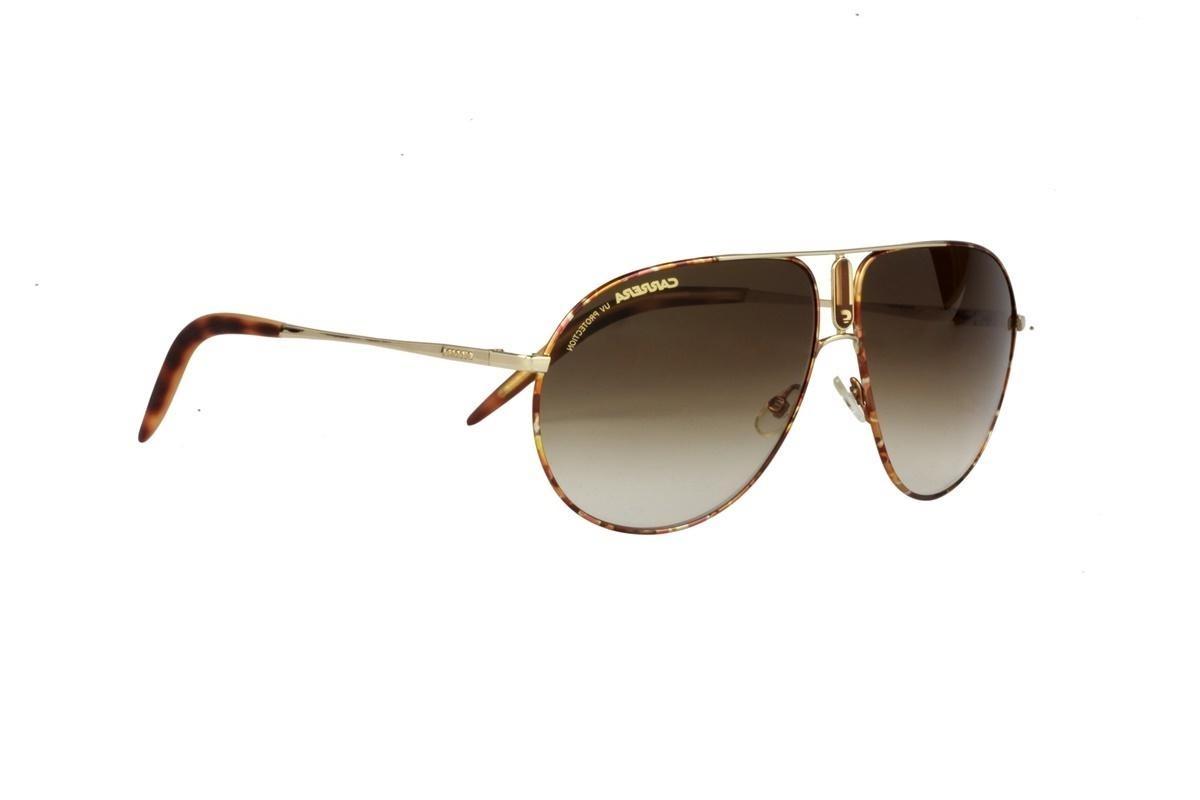 óculos de sol carrera 100% proteção uv marrom lentes preto. Carregando zoom. b39cfdf91e