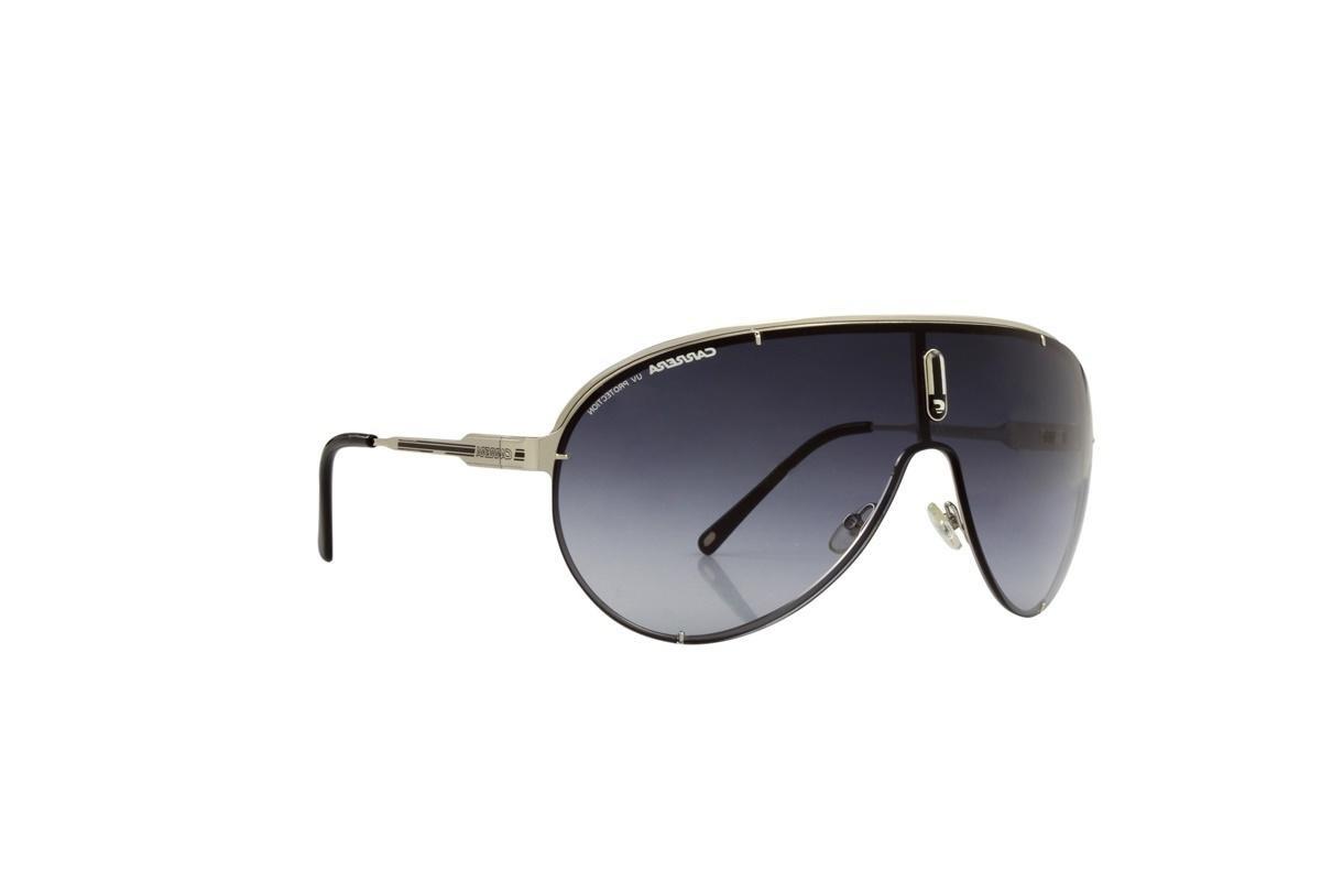 17a55e88987b3 óculos de sol carrera 100% proteção uv prata lentes preto. Carregando zoom.