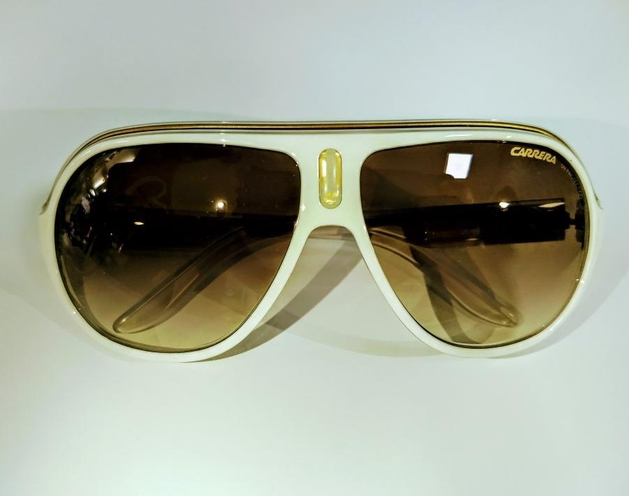 Óculos De Sol Carrera Branco Original - R  398,00 em Mercado Livre f320653b77