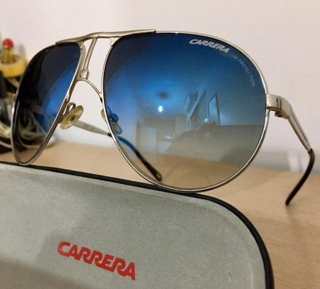c64a55611b7d8 Óculos De Sol Carrera Original - Comprado Na Itália! - R  299