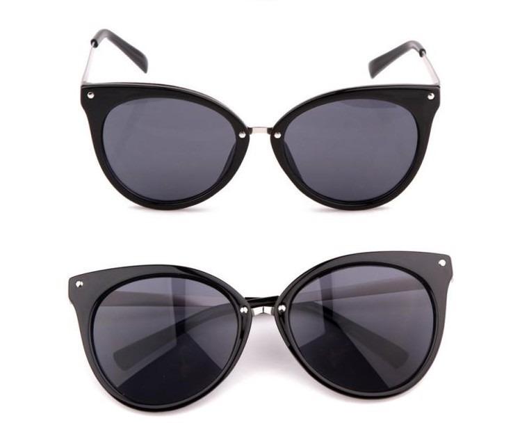 509ffe7b12b77 Óculos De Sol Cat Eye Gatinha Redondo Retrô Estojo Bag Onça - R  71 ...