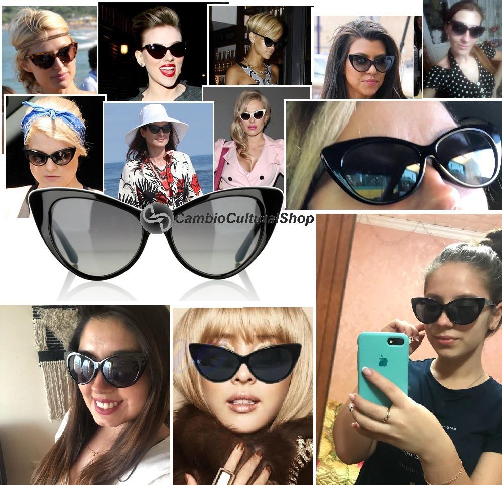 0ed39a772abb4 óculos de sol cat eye gatinho retrô vintage pin-up uv400. Carregando zoom.