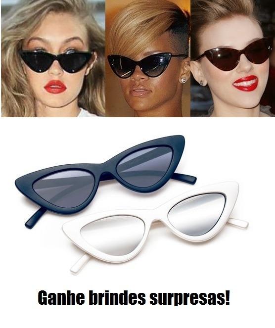 d808888ca Óculos De Sol Cat Eye Gatinho Retro Tendência Vintage 2018 - R$ 49 ...
