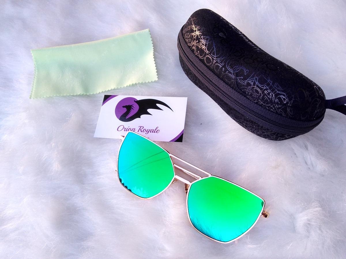 b47b9efcf Óculos De Sol Cat Eyes Fashion Lente Espelhada Verde - R$ 59,99 em ...