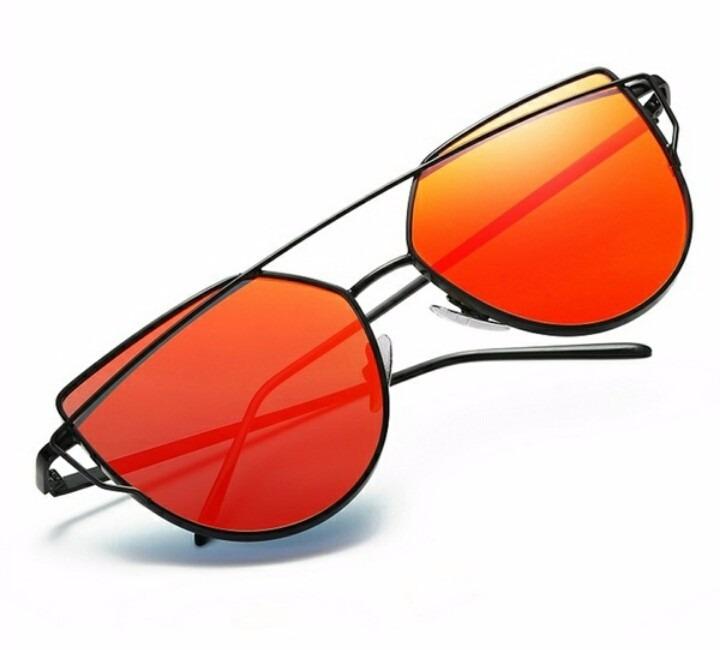 4bdd9bcb2610a Óculos De Sol Cat Eyes Olho De Gato Vermelho E Preto - R  69,99 em ...