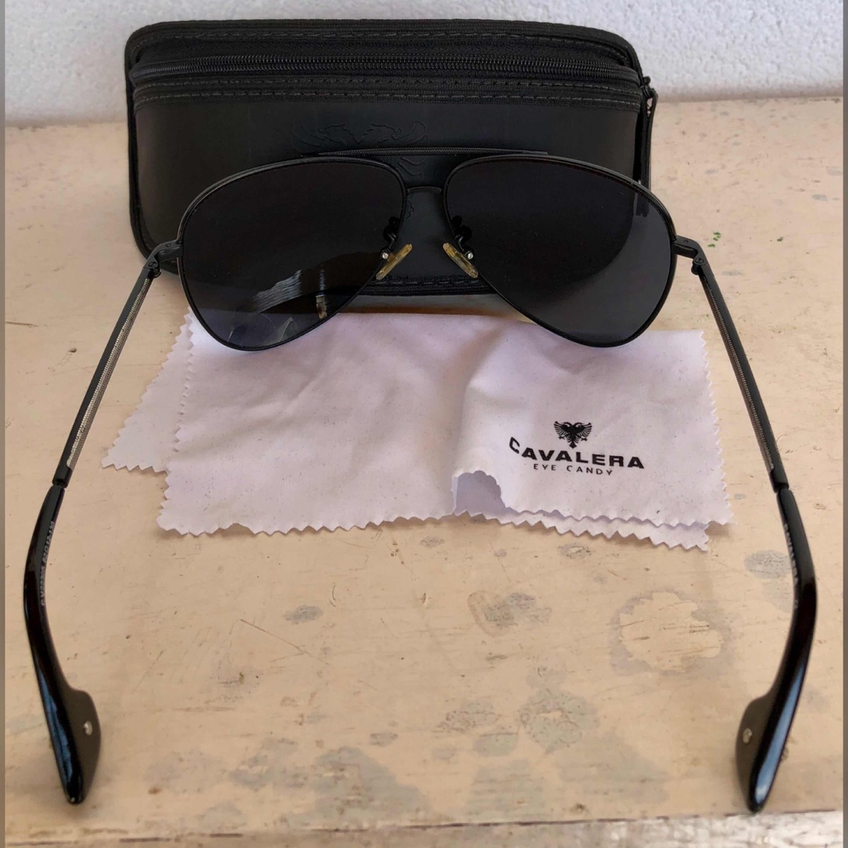 848bc7731 Óculos De Sol Cavalera Aviador Preto Com Prata - Novo - R$ 499,00 em ...