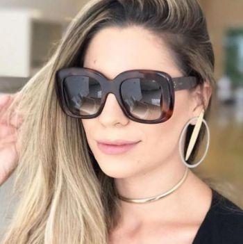e4df5553849ce Óculos De Sol Celine Marta Réplica Original Proteção Uv 400 - R  99 ...