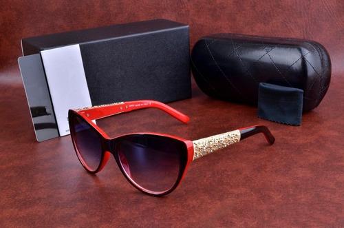 Oculos De Sol Chanel 5323 Preto Dourado Lentes Grande 2019 - R  443 ... 59b31905dc