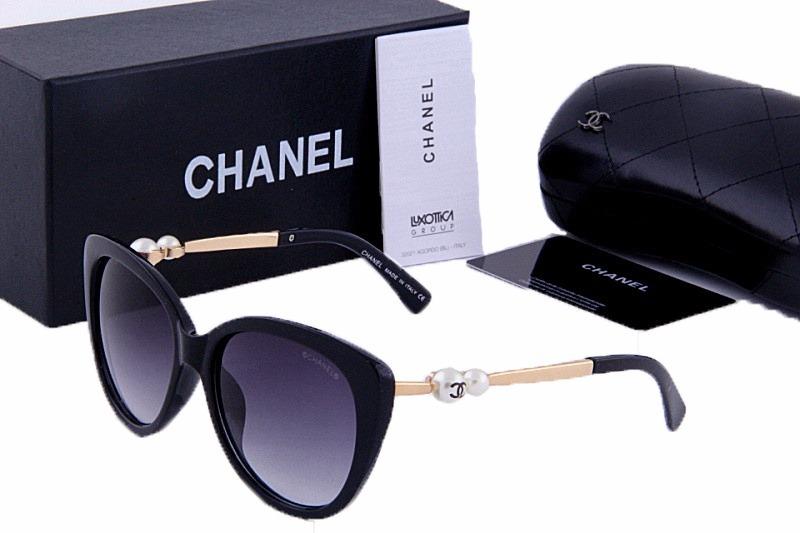 oculos de sol chanel 5338 preto dourado lentes grande 2018. Carregando zoom. b08da10d08