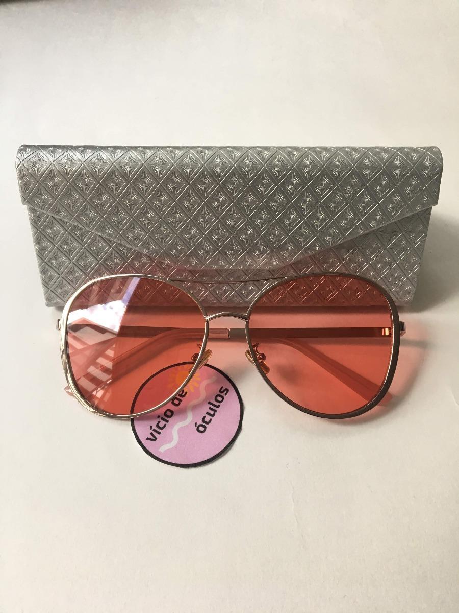 32bbb94fc óculos de sol chanel aviador rosa proteção uv 400. Carregando zoom.