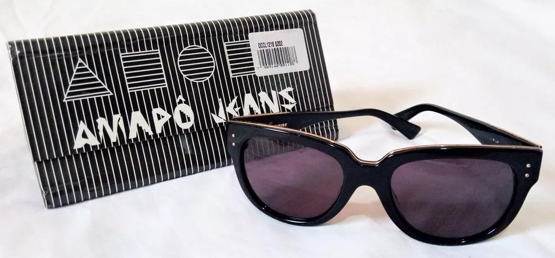 0735565872ed6 Óculos De Sol Chilli Beans By Amapô Jeans Preto E Dourado - R  64