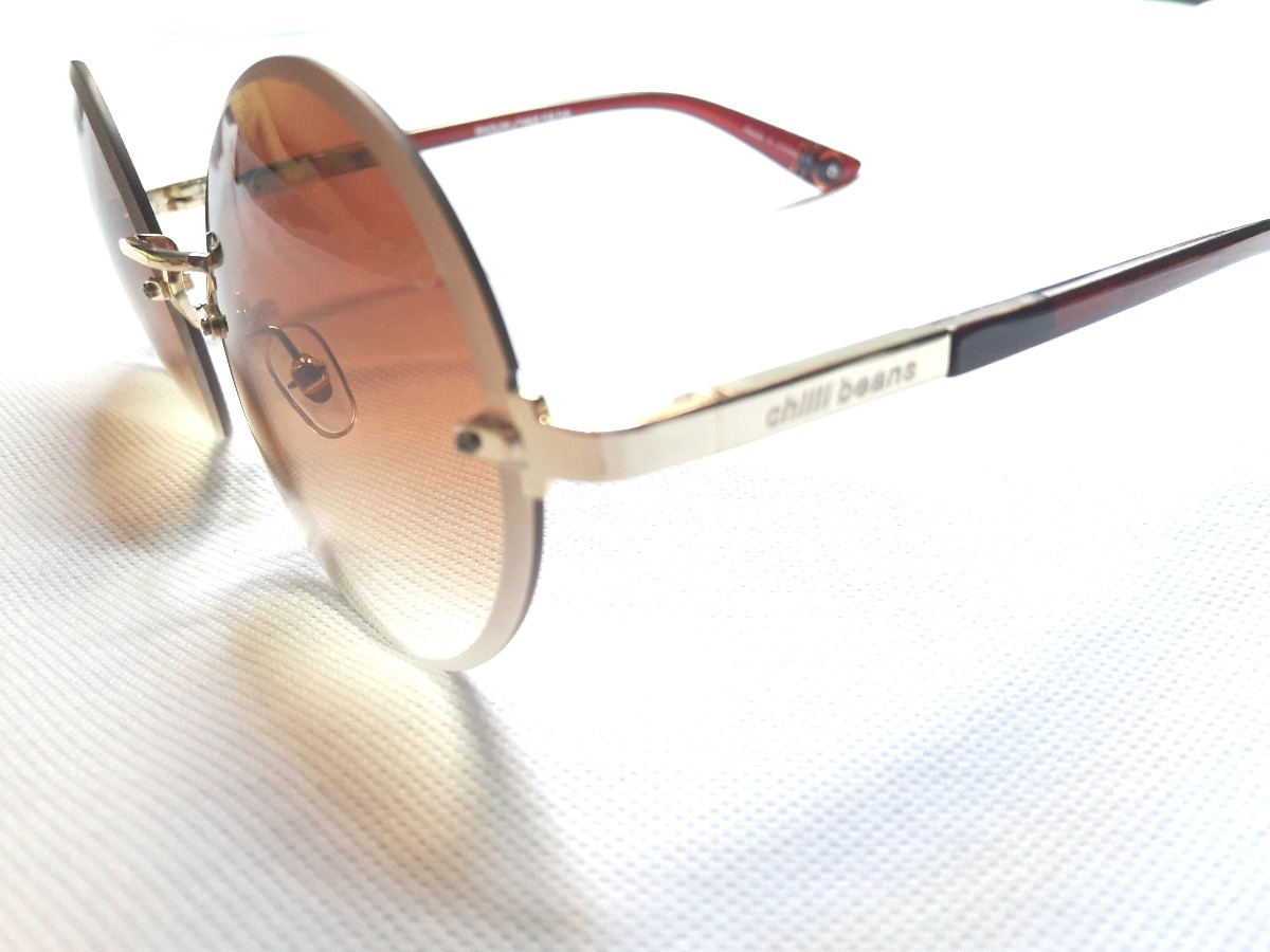 002da4edb oculos de sol chilli beans original redondo lançamento. Carregando zoom.
