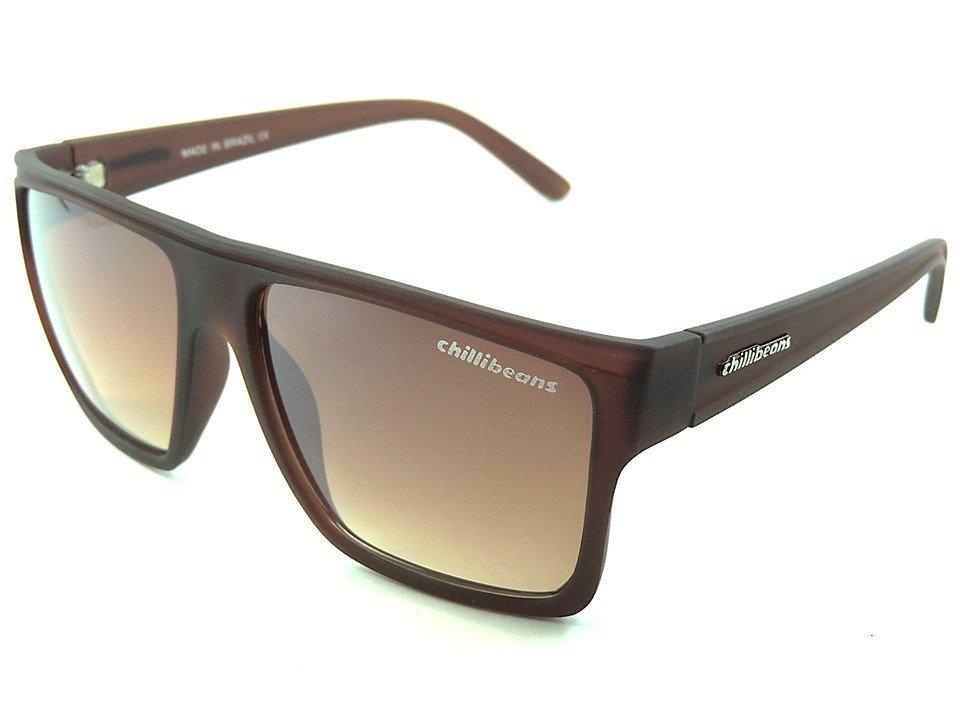 dddf57448c66a óculos de sol chillibeans masculino marrom proteção uv400. Carregando zoom.