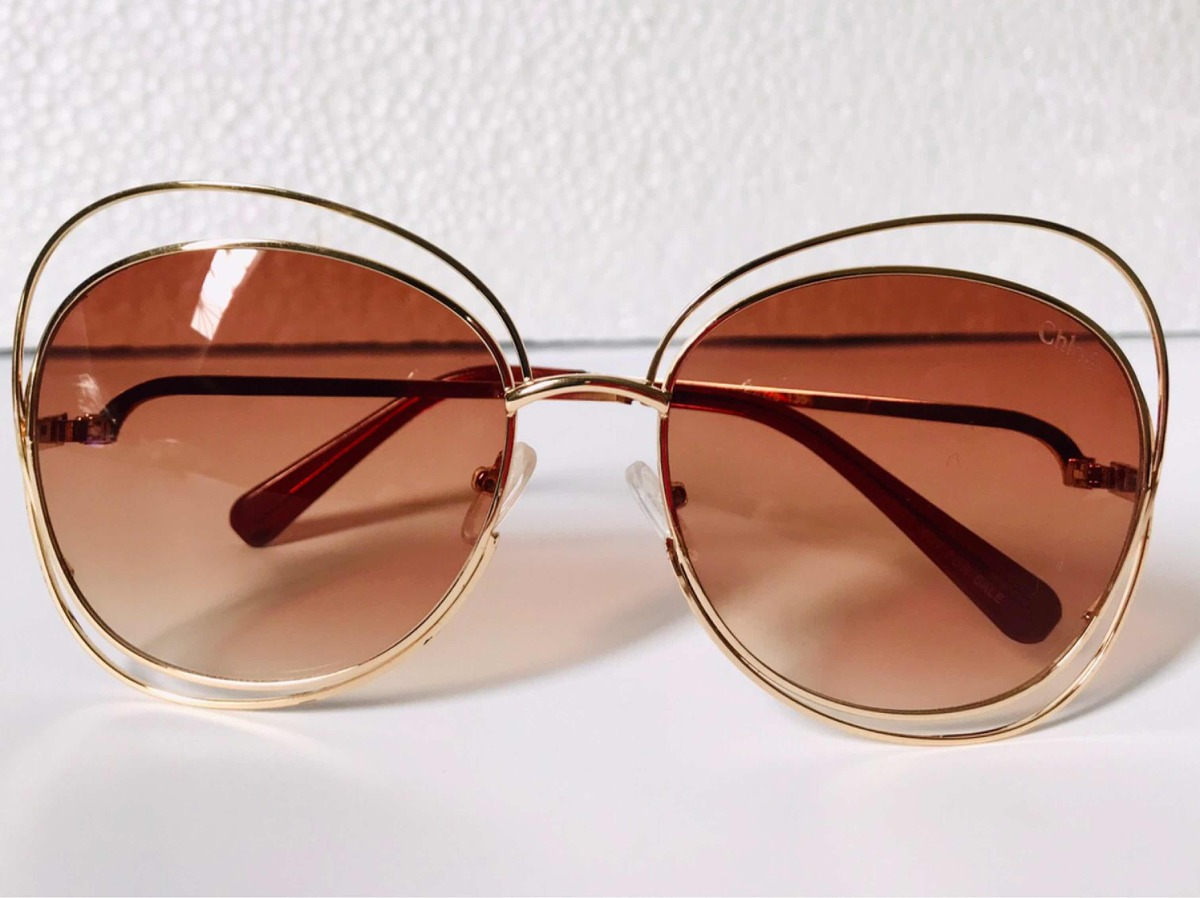 Óculos De Sol Chloe Carlina - R  148,00 em Mercado Livre 7ed4cd2c4c