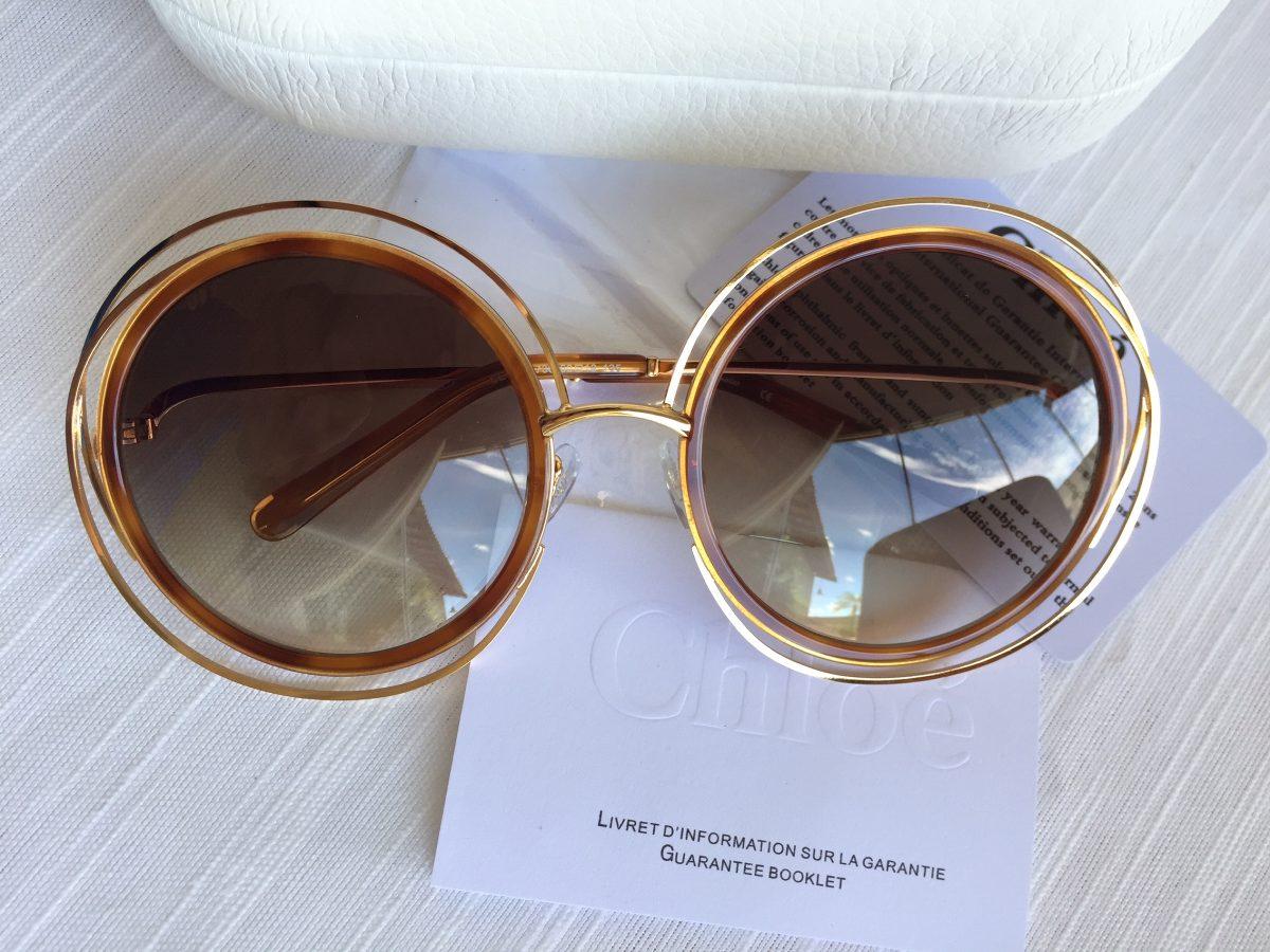 e0ba4bf94a66b Óculos De Sol Chloé Carlina Cê 0120s - R  750,00 em Mercado Livre
