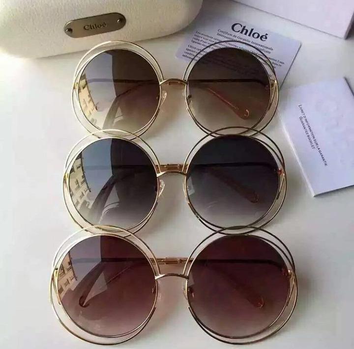 01ee15db77a87 Oculos De Sol Chloe Carlina Redondo Frete Gratis - R  489,90 em ...