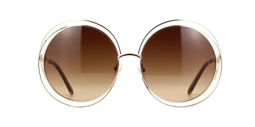 570ec0cc21ef5 oculos de sol chloe carlina redondo luxo marrom dourado. Carregando zoom.