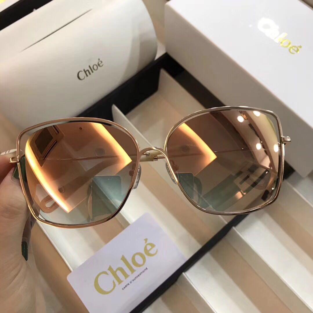 26addb2135c39 óculos de sol chloé feminino quadrado de metal. Carregando zoom.