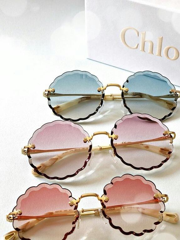 e8da1d2522ea1 Oculos De Sol Chloe Rosie Flowers Round Redondo Frete Gratis - R ...