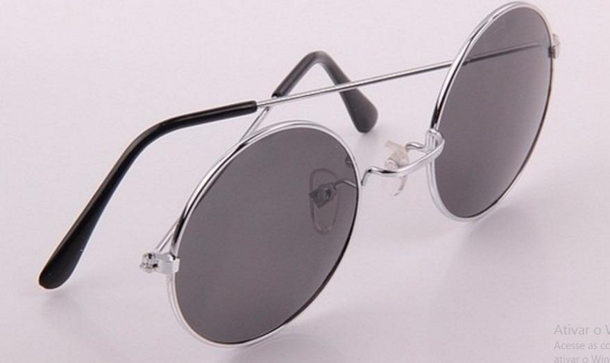 Óculos De Sol Circular Estilo Retrô John Lennon - R  9,99 em Mercado ... 2e9b917d9f