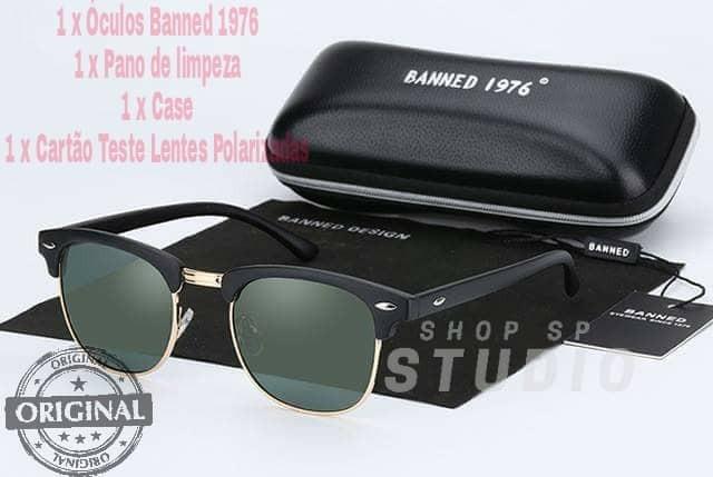 Óculos De Sol Clássico Retro Uv400 Polarizada Original - R  70,00 em ... 3a7f106a78