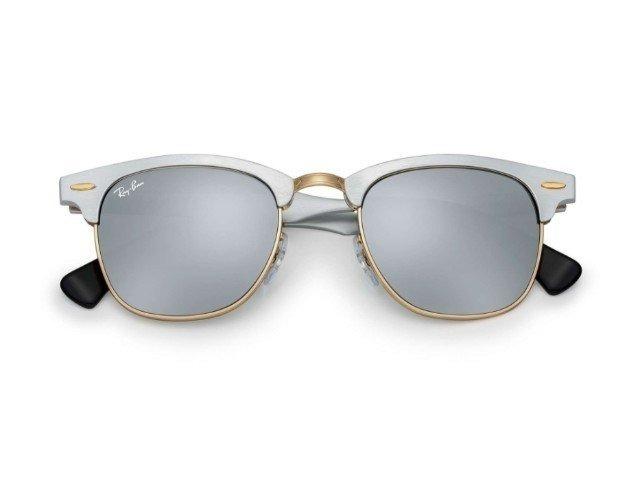 90d59d98c9b4a Óculos De Sol Clubmaster Aluminium Prata Feminino - R  179,00 em ...