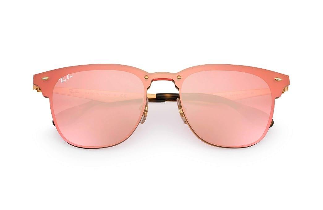 3e568bcf65d1d Oculos De Sol Clubmaster Blaze Rb3576 Feminino Rosa - R  115,00 em ...