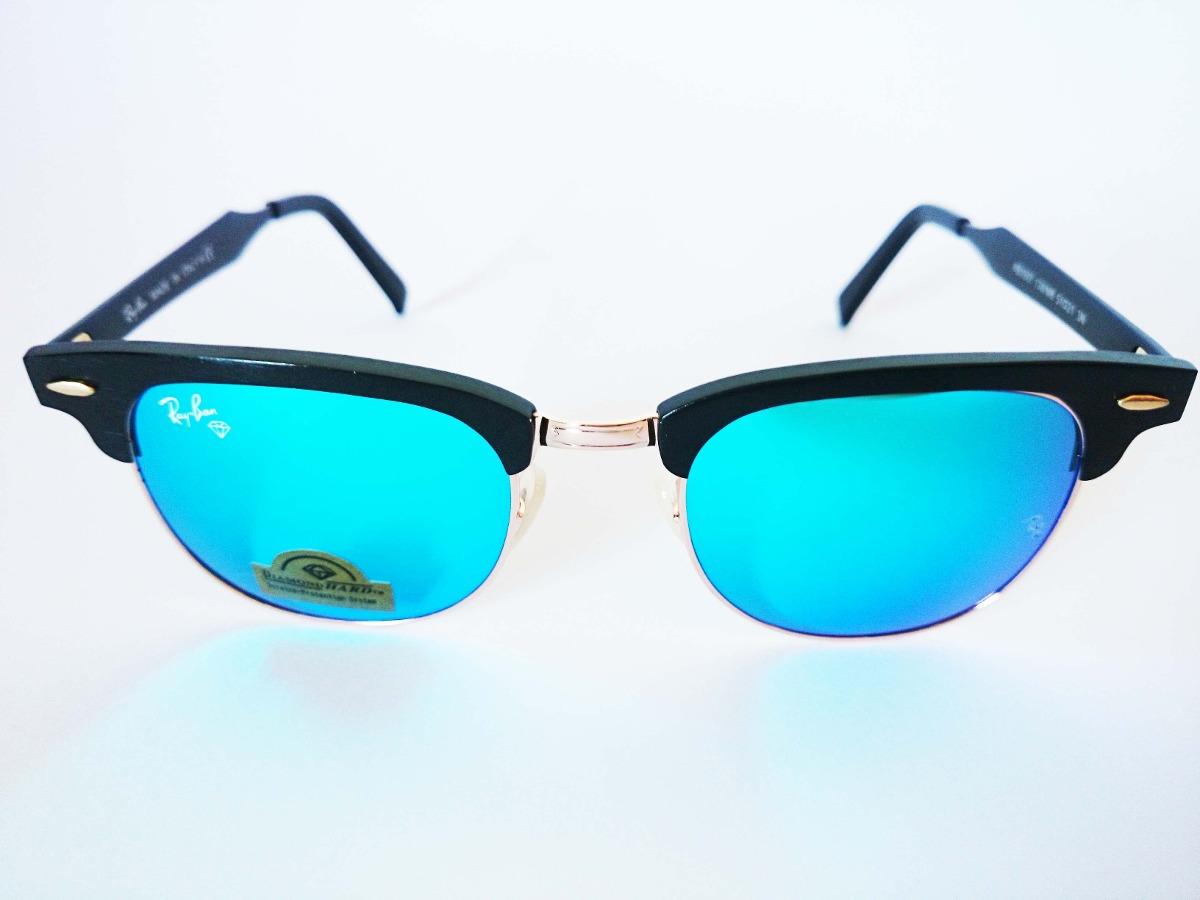 c4618a7a3 Oculos De Sol Clubmaster Preto Lente Azul - R$ 149,99 em Mercado Livre